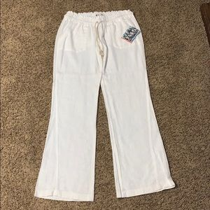 Roxy, white linen pant
